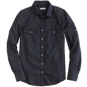 J. Crew Keeper Chambray Shirt in Dark Rinse